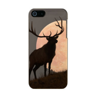 Majestic Bull Elk and Full Moon Rise Incipio Feather® Shine iPhone 5 Case