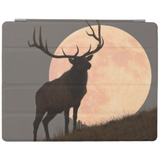 Majestic Bull Elk and Full Moon Rise iPad Cover