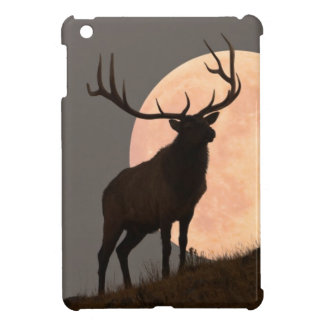 Majestic Bull Elk and Full Moon Rise iPad Mini Covers