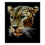 Majestic Cat Leopard Head Poster