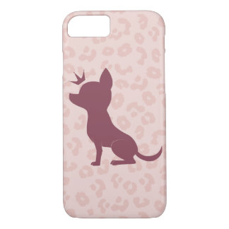 Majestic Chihuahua on Pink Leopard Print iPhone 7 Case