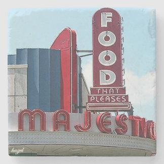 Majestic Diner Atlanta Landmark Marble Coaster Stone Beverage Coaster