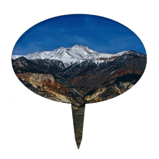 MAJESTIC EARLY SPRING MOUNTAIN LANDSCAPE CAKE TOPPER