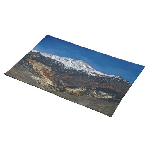 MAJESTIC EARLY SPRING MOUNTAIN LANDSCAPE PLACE MATS