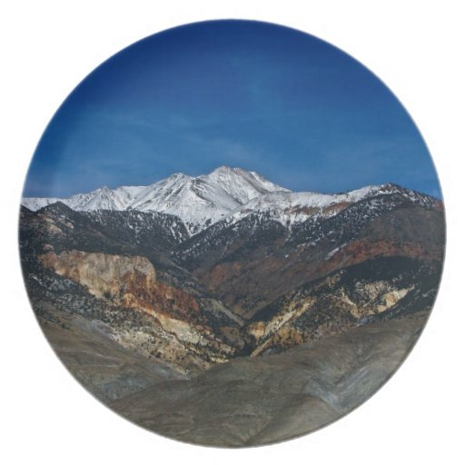 MAJESTIC EARLY SPRING MOUNTAIN LANDSCAPE PARTY PLATES