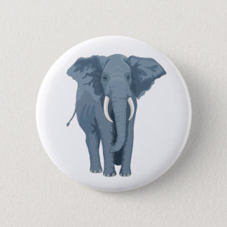 Majestic Elephant 6 Cm Round Badge