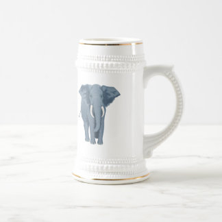 Majestic Elephant Beer Stein