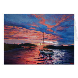 """""""Majestic evening"""" note card"""