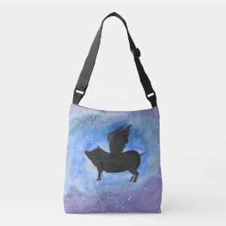 Majestic Flying Pig Cross Body Bag