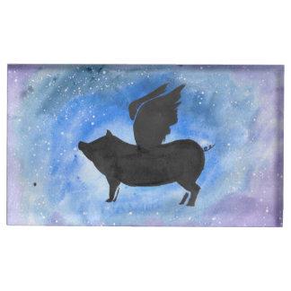 Majestic Flying Pig Place Card Holder Table Card Holder