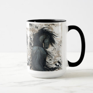 Majestic Friesian Horse by Bihrle Mug