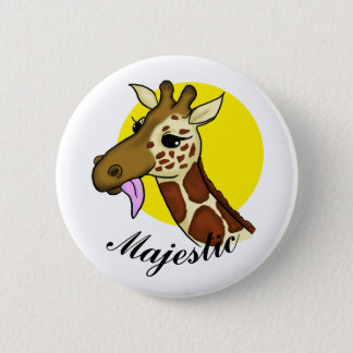 Majestic Giraffe Button