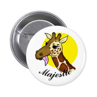 Majestic Giraffe Button