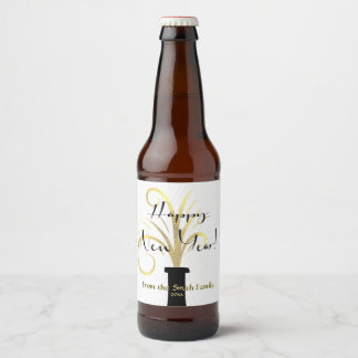 Majestic Gold, New Year Beer Bottle Label