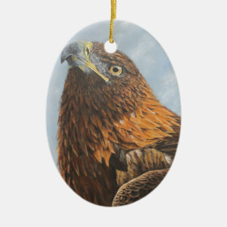 Majestic Golden Eagle Ceramic Oval Decoration
