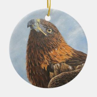 Majestic Golden Eagle Christmas Ornament