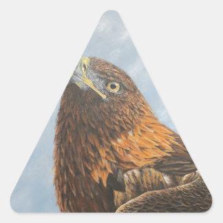 Majestic Golden Eagle Triangle Sticker