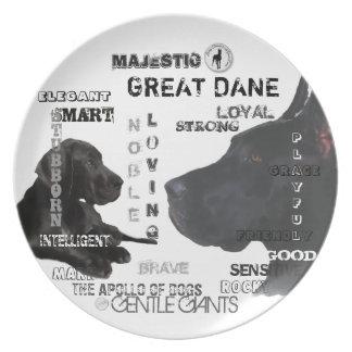 Majestic Great Danes Plate