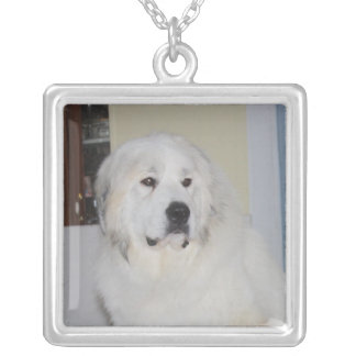 Majestic Great Pyrenees Silver Plated Necklace