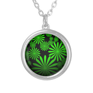 Majestic Green Round Pendant Necklace