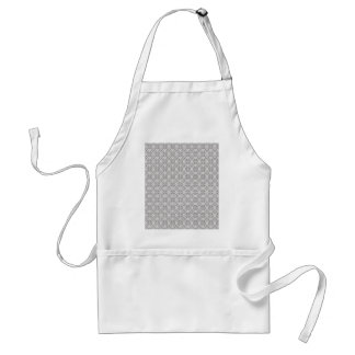 Majestic grey flowers on rough white background apron