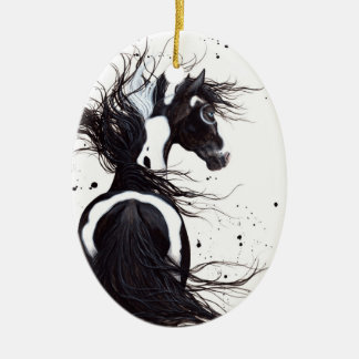 Majestic Horse Pinto by BiHrLe Christmas Ornament