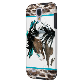 Majestic Horse Turquoise War Paint BiHrLe Cell Galaxy S4 Case