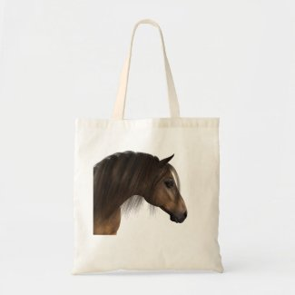 Majestic Horse with Brown Eye and Beautiful Mane Tote Bag