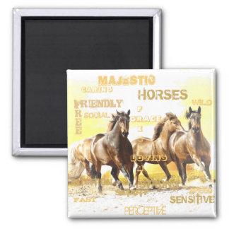 Majestic Horses Magnet