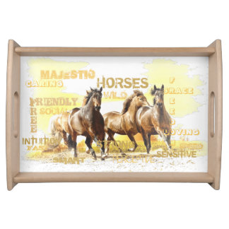 Majestic Horses Serving Tray