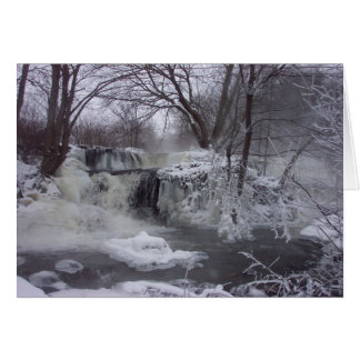 Majestic Iced Waterfall Christmas Card2 Card