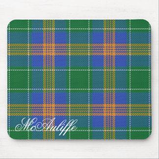 Majestic Irish Clan MacAuliffe Tartan Mouse Mat