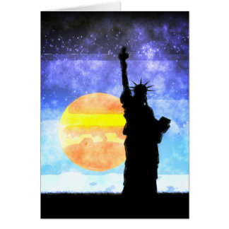 Majestic Lady Liberty Card