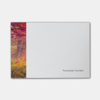 Majestic Landscape With Autumn Trees In Forest Post-it Notes
