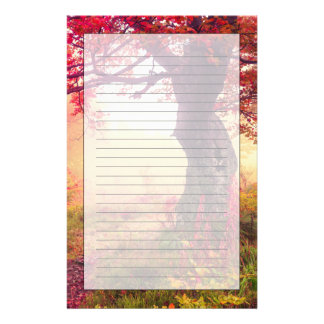 Majestic Landscape With Autumn Trees In Forest Stationery