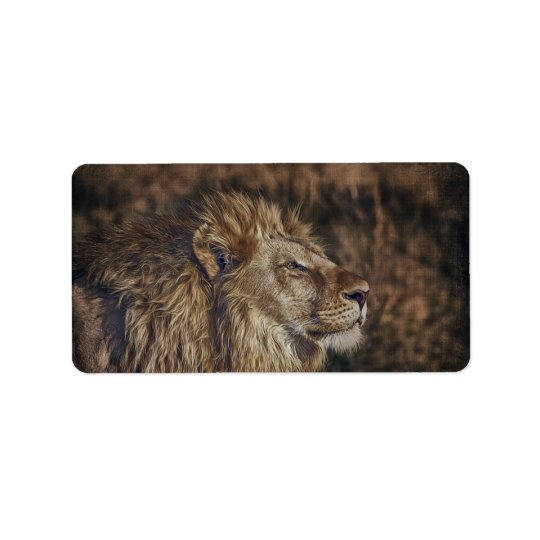 Majestic Lion Label