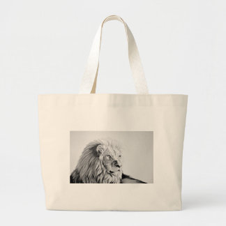 Majestic Lion Large Tote Bag
