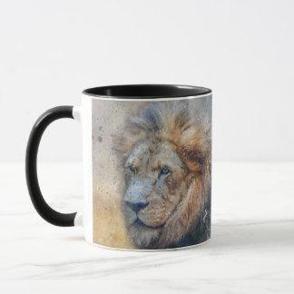 Majestic Lion Photography Modern Watercolor Mug