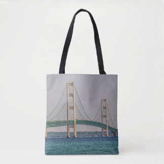 Majestic Mackinac Bridge Tote Bag