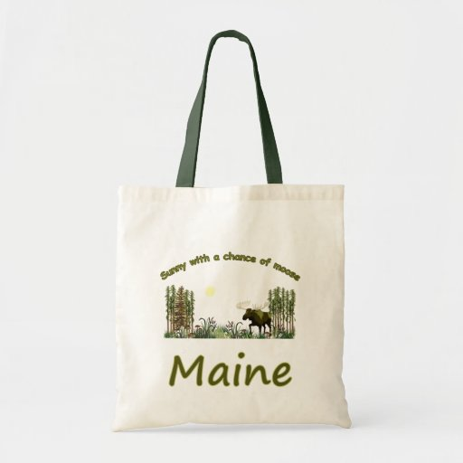Majestic Maine Moose Budget Tote Bag