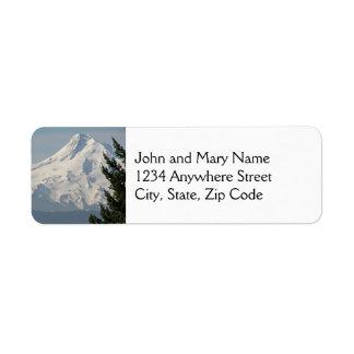 Majestic Mount Hood Photo Return Address Labels