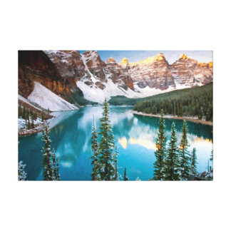 Majestic Mountain View Oil Painting Print Stretched Canvas Prints