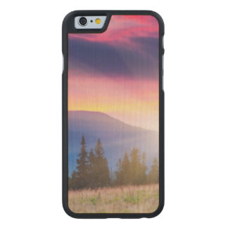 Majestic mountains landscape under morning sky carved® maple iPhone 6 slim case