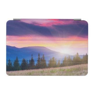 Majestic mountains landscape under morning sky iPad mini cover