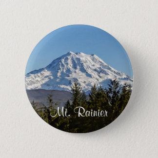 Majestic Mt. Rainier 6 Cm Round Badge