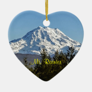 Majestic Mt. Rainier Christmas Ornament