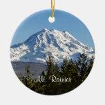 Majestic Mt. Rainier Round Ceramic Decoration