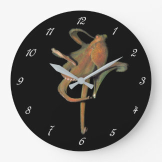 Majestic Octopus Round Wall Clock (with numbers)