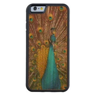 Majestic Peacock Bird on Display Carved Cherry iPhone 6 Bumper Case