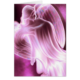 Majestic Pink Angel Card
